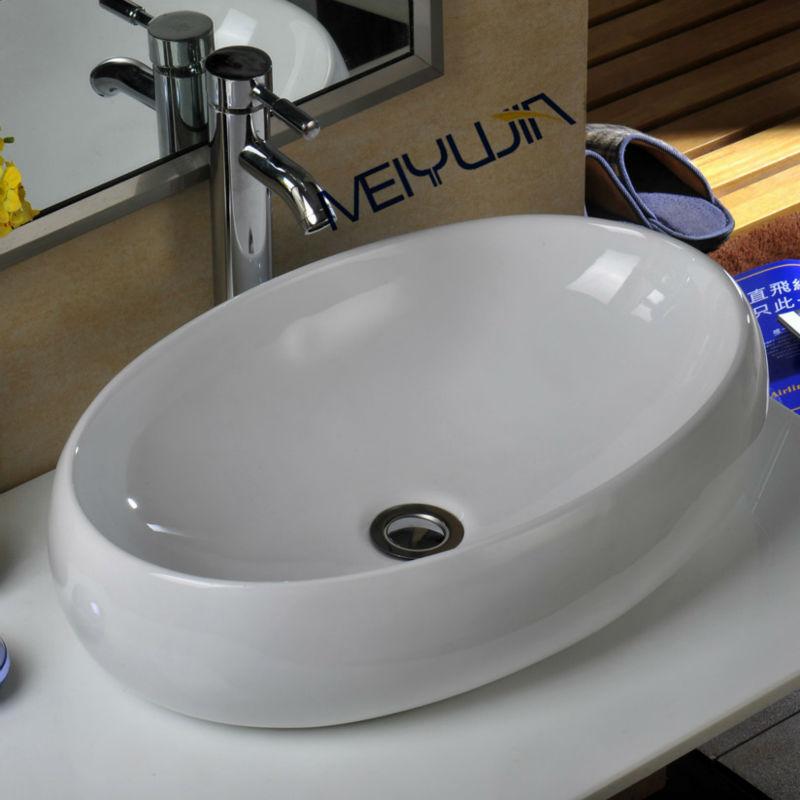 China Supply Keramische Badkamer Sink Kom Aanrecht Gezicht Wastafel ...