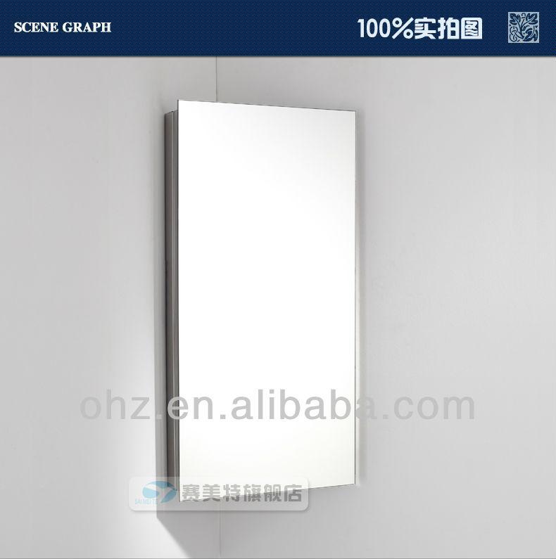 2014 Modern Wall Mounted Corner Bathroom Mirror Cabinet A7055