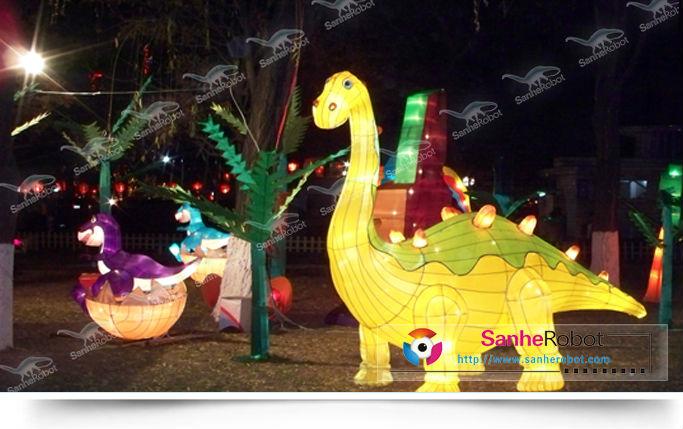 sh sl023 christmas festival life size dinosaur atmosphere
