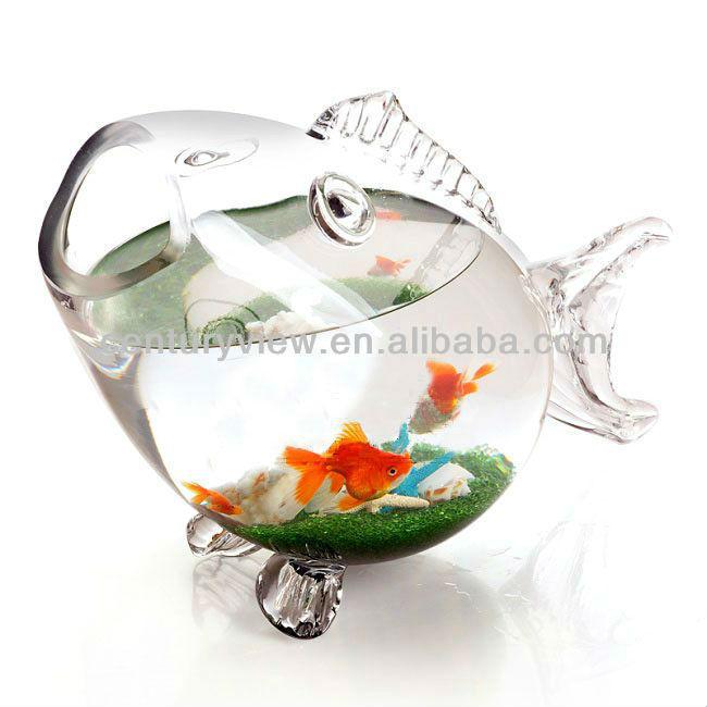 Large glass fish bowl wholesale round glass fish bowl for Glass fish bowl