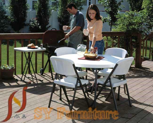 Tavolo Rotondo Pieghevole Giardino.31 5 Inchhdpe Di Plastica Portatile Tavolo Rotondo Pieghevole