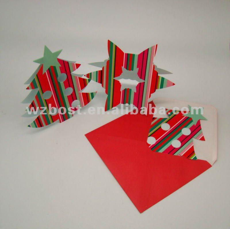 Beautiful Design Die-cut Christmas Card - Buy Die-cut Christmas Card ...
