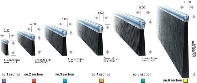 Aluminium Sliding Door Brush U0026 Sound Proof Brush