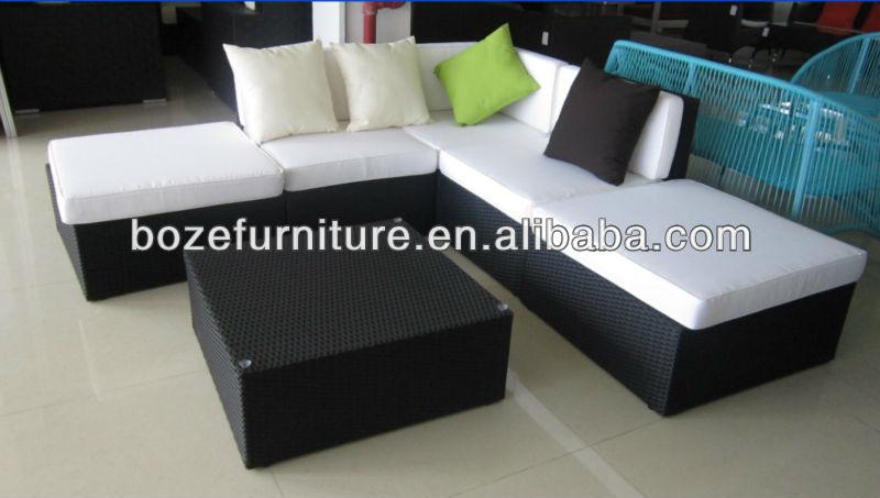 Ahorro De Espacio Muebles De Mimbre Al Aire Libre/mimbre Hotel Sofá ...