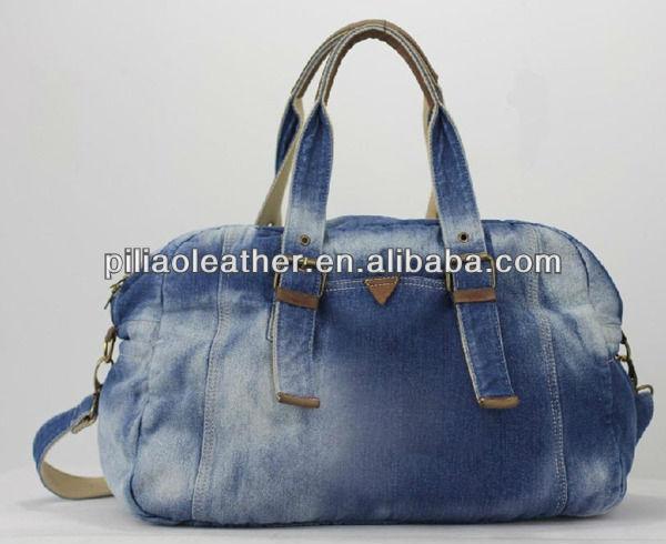 Bolsa De Tecido E Jeans : Special washed denim duffle bag jeans travel buy