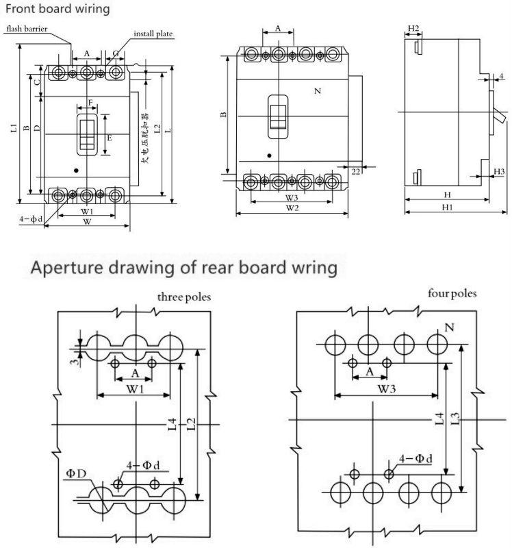 Nom1 White Cover Mccb 3p 63a Mccb Molded Case Circuit Breaker ...