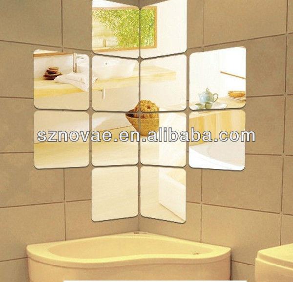 Cm 026 acrylique sticker miroir pour salle manger for Papier miroir autocollant