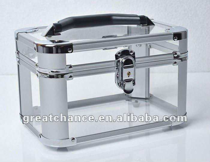 New Acrylic Transparent Beauty Box Make Up Jewellery Nail