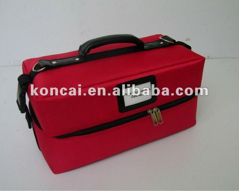 Nylon cosmetic bag with handle Makeup Bag Details 7