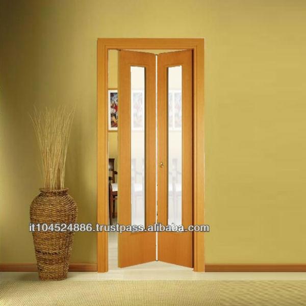 Wood sliding folding door stile italiano revolving buy for Puertas plegables de madera
