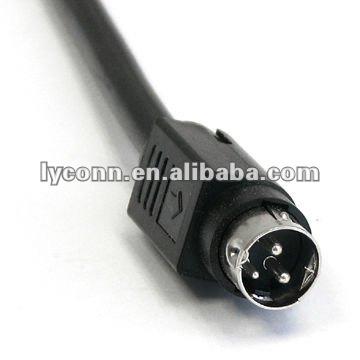 Mini Din Cable Assembly 8 Pin Din Plug To 4 Pin Mini Plug