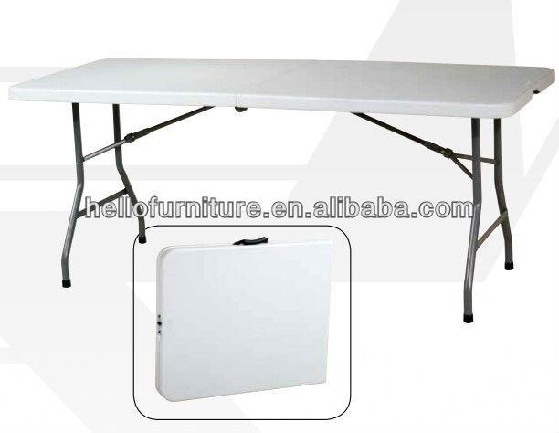 6u0027 Resin Center Fold Multi Purpose Table, Plastic Folding Table, Multi  Folding Game