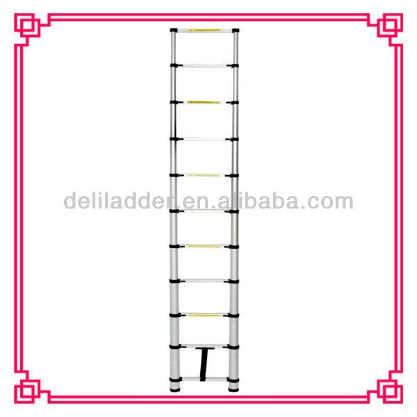 44m telescopic ladder 15 step aluminum ladder rubber feet for ladders foldable