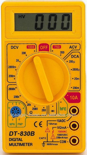 digital multimeter dt 830b инструкция