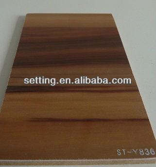 Setting Pvc Veneer For Kitchen Cabinet Pvc Laminated Fibreboard Type Panel