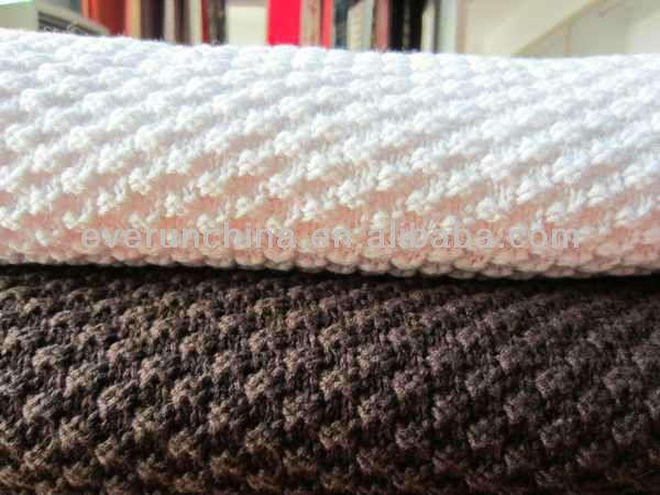 50ci50 100%cotton Rice Stitch Knit Blanket Throw