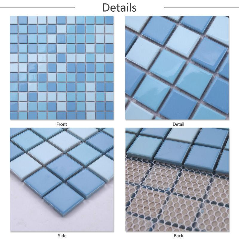 Jy-sw-01 Bule Ceramic Square Mosaic Swimming Poor Covering Tiles ...