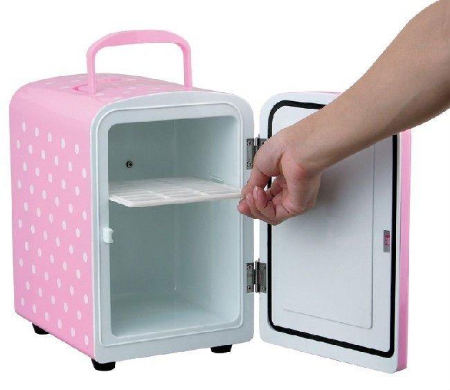 4Litres Portable Car Cooler Warmer Bar Refrigerator 12v Mini Fridge Home