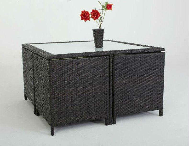 ext rieur jardin meubles en rotin carr salle manger. Black Bedroom Furniture Sets. Home Design Ideas