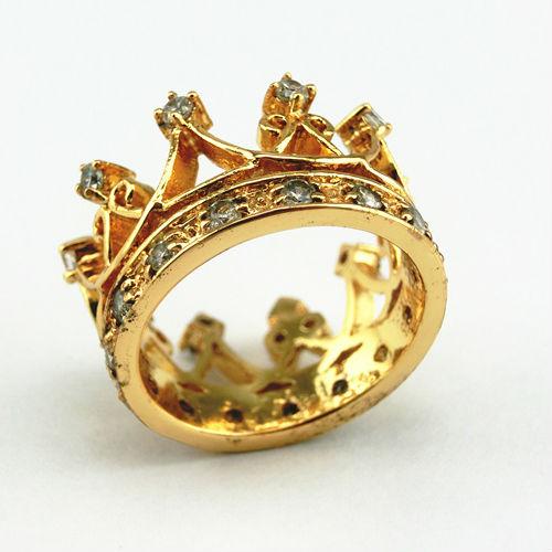 Yellow Gold Princess Crown Ring