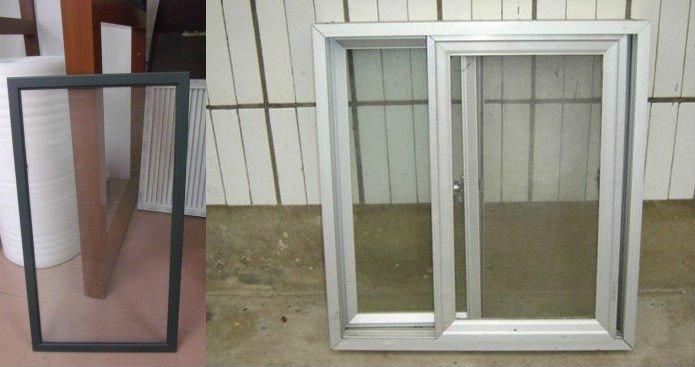 Simple design aluminium frame sliding glass window buy for Simple window design