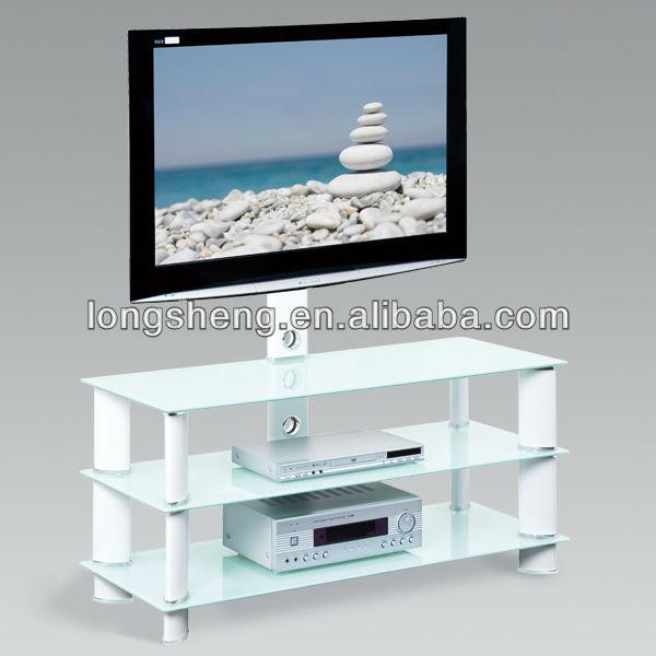 tringulo de cristal templado tv stand vidrio templado para tv stand muebles con calidad estupenda