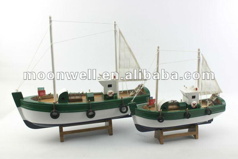 barco de pesca de madera modelismo souvenir regalos nuticos decoracion artesanas