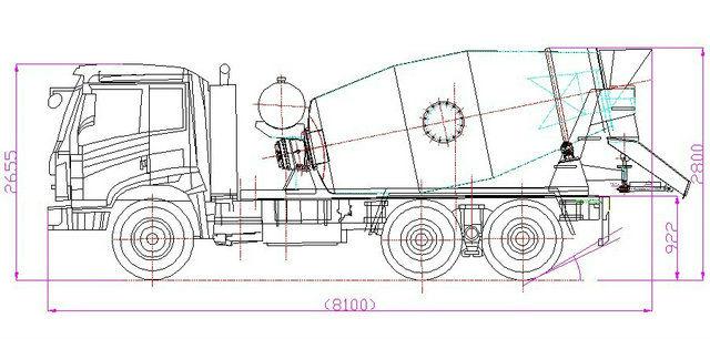 Shacman Delong F3000 10cbm Concrete Mixer_1114524521 on Cement Pump Truck