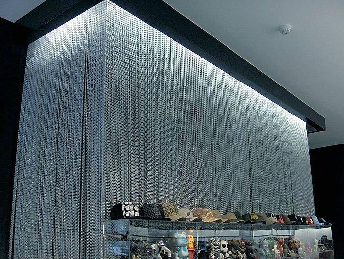 Fashionable Design Colorful Aluminum Chain Curtain Wall