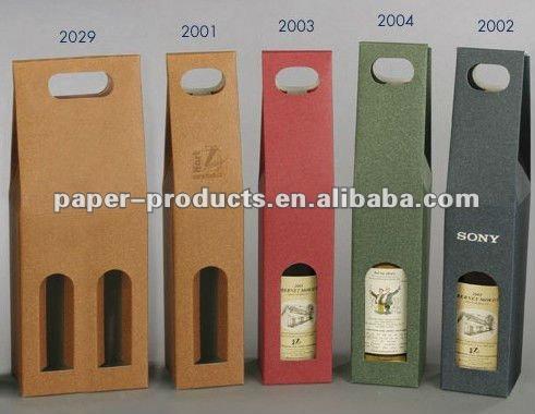 b8a1669ba Forma Troquelada Bolsa De Papel Reciclado Para Vino Sola Botella ...