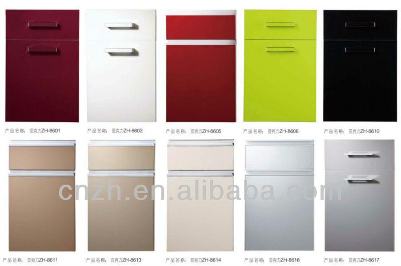 High Gloss White Kitchen Cabinets Acrylic Kitchen Shutter