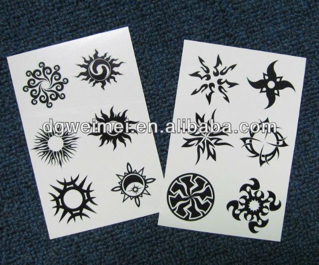 Jts302 water transfer popular adults man tribal tattoo for Custom temporary tattoos no minimum