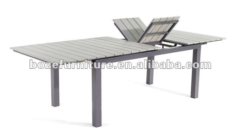 En Plein Air Table En Bois Avec Trou Pour Parasol / Carré Tables De ...