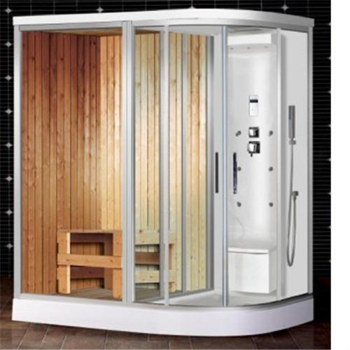 finland wood room fiberglass sauna room combined steam shower units