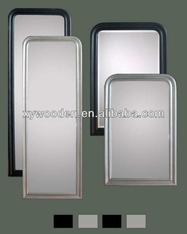 Diseño De Madera Enmarcado Espejo Rectangular Con Esquinas Redondas ...