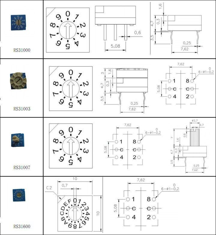 589253386_120 mini dip slide 16 position rotary switch for fan ck buy mini dip