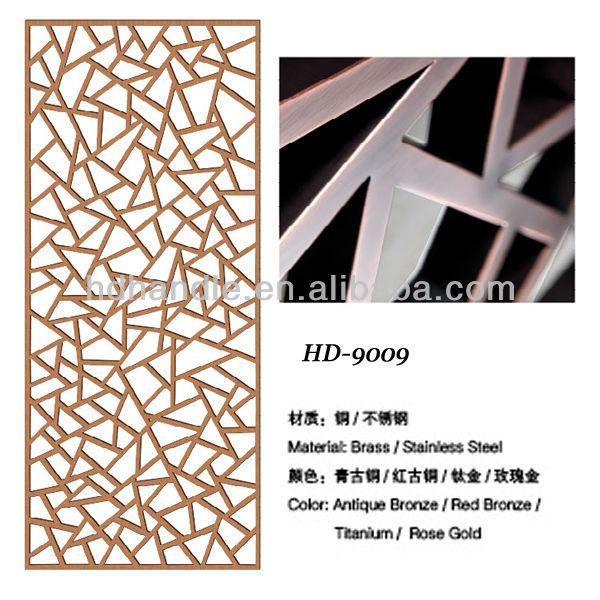 Decorative modern design metal folding screen room divider for Steel divider design