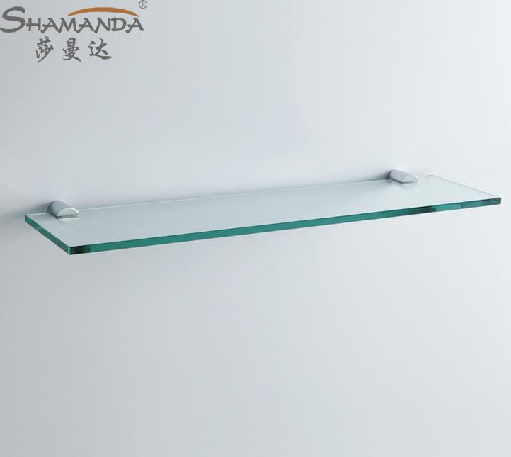 Free Shipping Single Bathroom Shelf Gl Br Made Base Hardware Accessories 96024