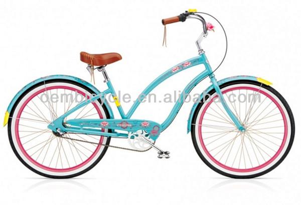 20 Inch Hot Sale Blue Color Girl Beach Cruiser Bike Buy Children