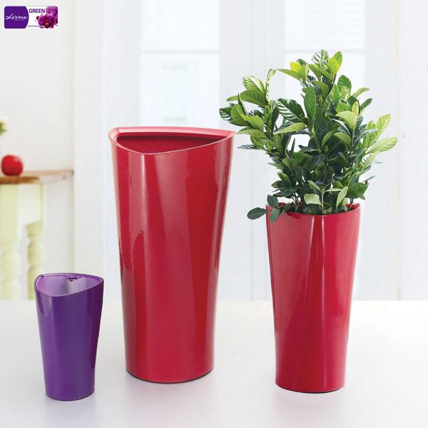 White Triangle Flower Pot Plastic Flower Pot Houseplants