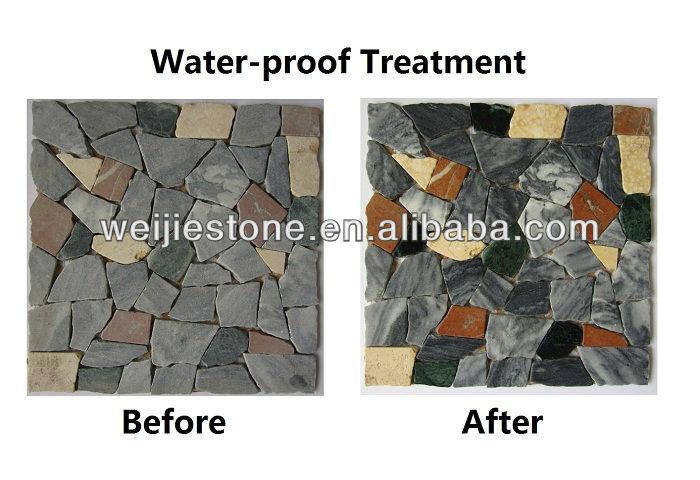 Pavimentazionein mosaico di pietra colorato mosaico di marmo per