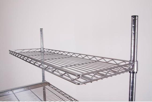 Mini Mounted Metal Wall Shelf -- H (6)