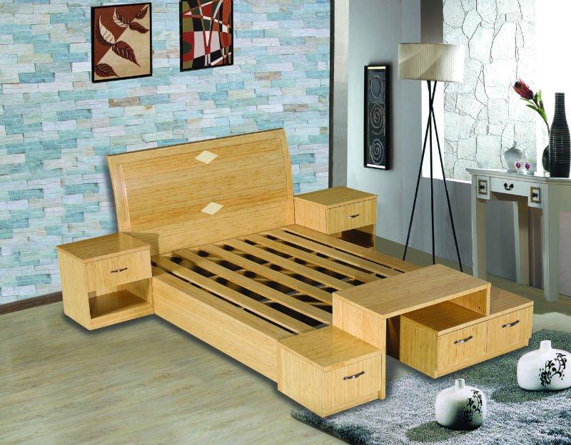 lbjx bamb chapa de madera muebles de dormitorio camas
