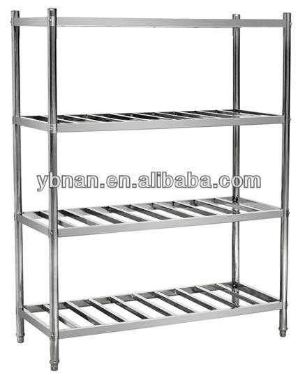 Restaurant Kitchen Racks restaurant kitchen stainless steel shelf storage rack / 5 tiers