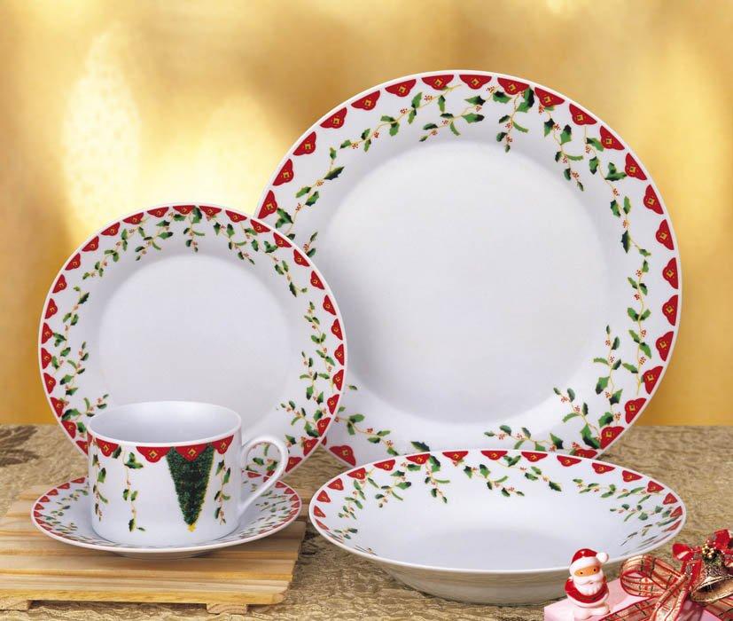 photo 20pcs porcelaiin dinnerware set with Christmas flowers printing & 20pcs Porcelaiin Dinnerware Set With Christmas Flowers Printing ...