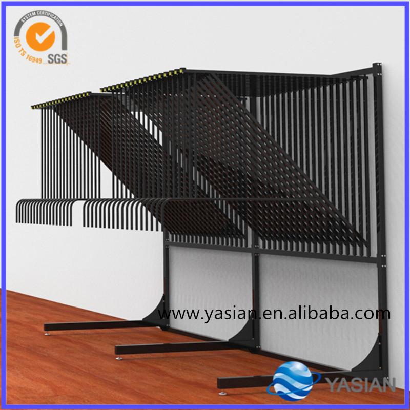 Metal Iron Rug Display Rack Carpet Hanging Stand System