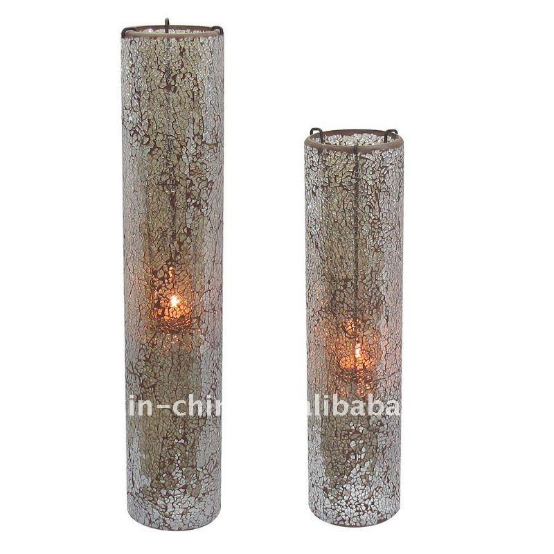 alto mosaico jarrones de cristal con sostenedor de vela colgante para decoracin del hogar