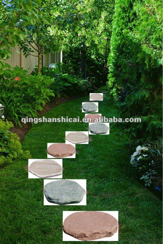 Round Decorative Grass Garden Stepping Stone,garden Round Stone Paver,garden  Paver Stone,