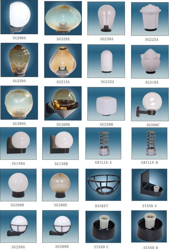 Uvioresistant Pmma Square Globe Outdoor Garden Light Lights Rotorazer Saw