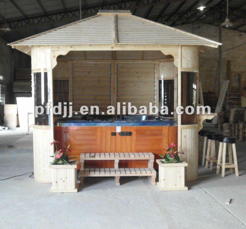 2016 hot sale china factory outdoor hot tub gazebo wooden gazebo garden gazebo for sale buy - Whirlpool pavillon ...